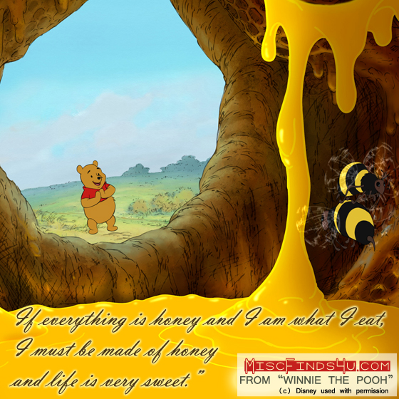 Winnie the Pooh Movie Quote – Made of Honey