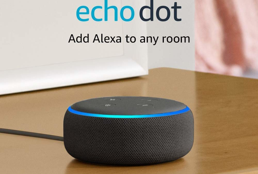 Echo Dot – Smart speaker Plus 1 Month Amazon Music Unlimited for under $9, regularly $58