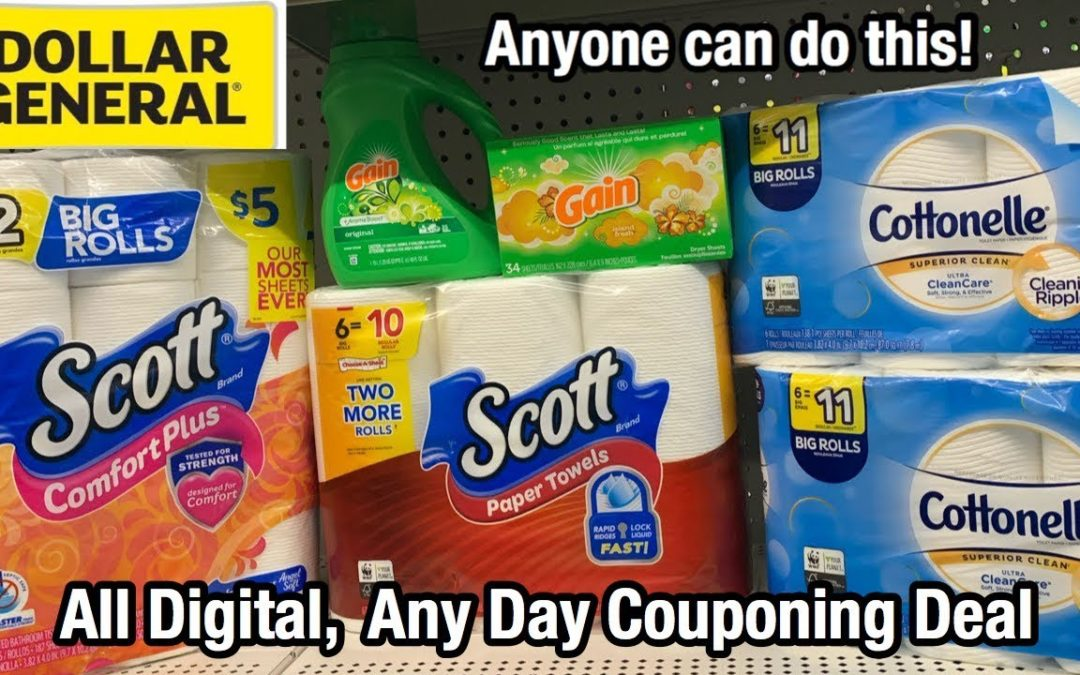 Dollar General | Any Day All Digital Couponing Deal | Paper Stock Up –  Under $10! 🙌🏽