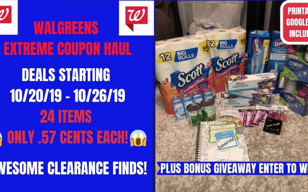 Walgreens Extreme Coupon Haul Deals Starting 10 20 19 24 Items Only 57 Cents Plus Gift Giveaway Coupons And Deals Online