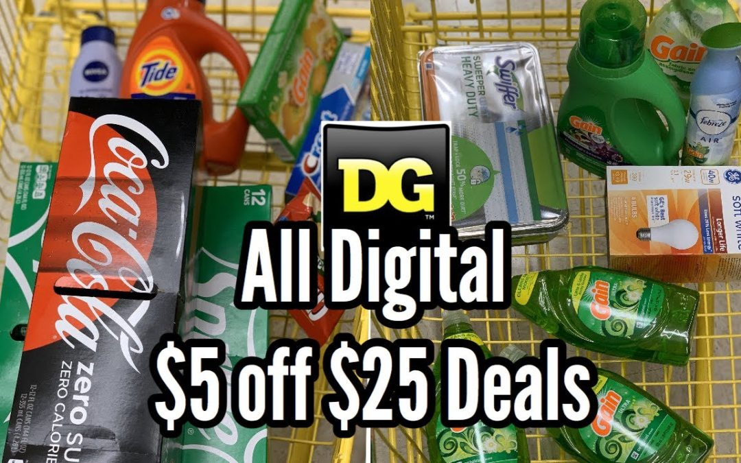 Dollar General | ALL DIGITAL $5/25 Couponing Deals | Less than $1 per item – $0.90 Coke 12 Packs! 🔥