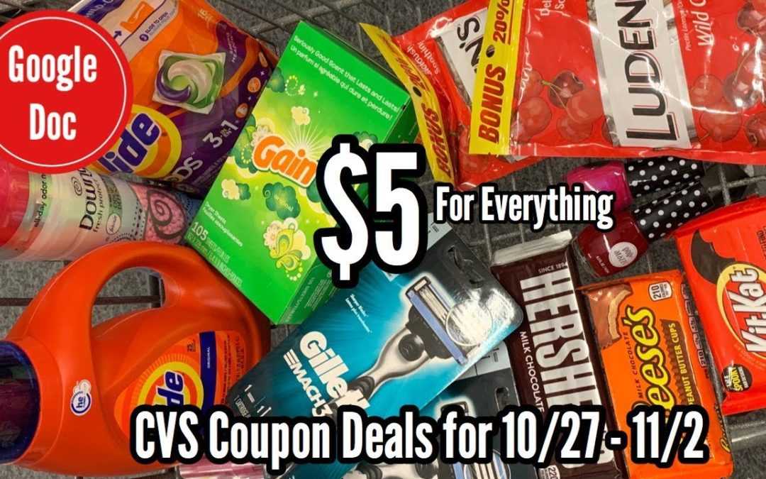 CVS Free and Cheap Coupon Deals & Haul | 10/27 – 11/2 | Over $70 in products for $5! 🙌🏽