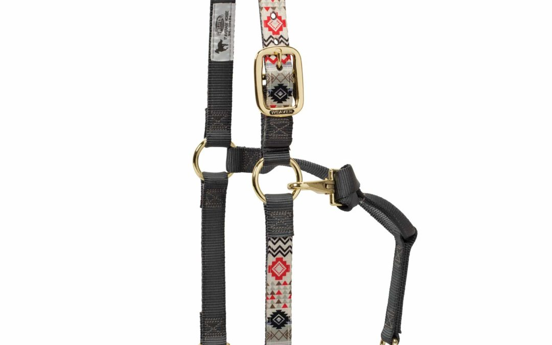 Weaver Leather Adjustable Patterned Nylon Horse Halter