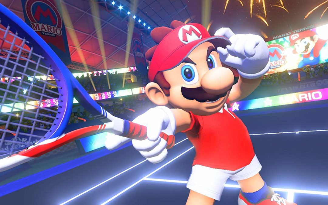 Nintendo Switch with Mario Tennis Aces Game, On Amazon for only $38.99!