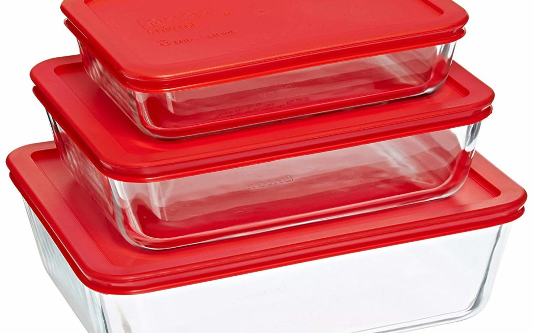 Pyrex Simply Store Glass Rectangular Food Container Set with Red Lids  $12.59 on Amazon Reg 17.99