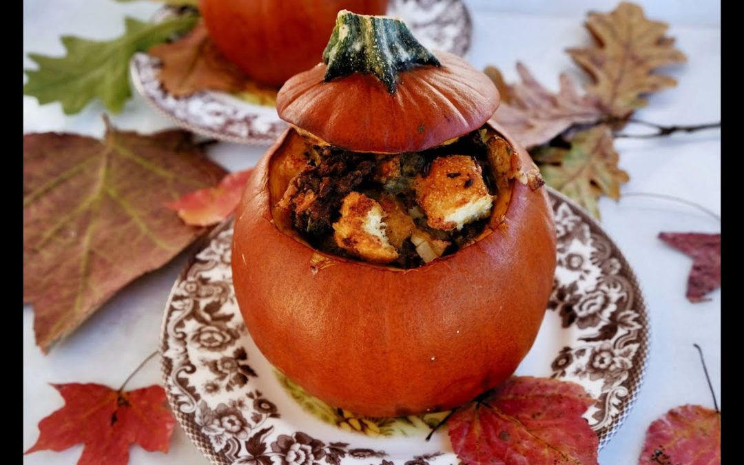 Thanksgiving Recipe: Stuffing Stuffed Pumpkins by Everyday Gourmet with Blakely
