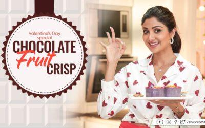 Chocolate Fruit Crisp: Valentine's Day | Shilpa Shetty Kundra | Healthy Recipes | Art Of Loving Food