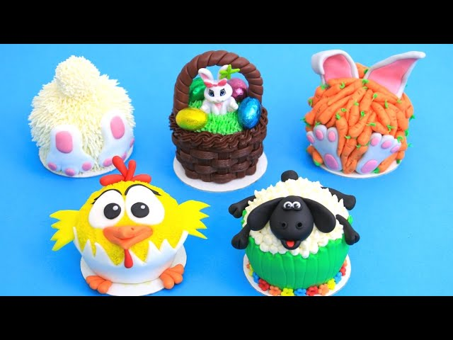 Amazing Easter Mini Cakes /Cupcakes by Cakes StepbyStep