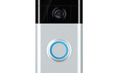 Ring Video Doorbell (1st Gen) – HD video, motion activated alerts, easy installation – Satin Nickel