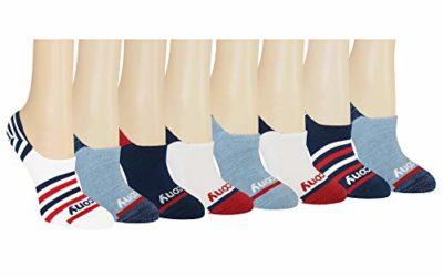 Saucony Women's Show Cushioned Invisible Liner Socks, American Assort (8 Pair), Shoe Size: 7.5-10.5