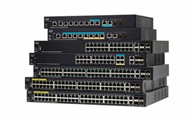 Cisco SG350X-48MP Stackable Managed Switch with 48 Gigabit Ethernet (GbE) Ports, 2 x 10G Combo + 2 x SFP+, 740W PoE, Limited Lifetime Protection (SG350X-48MP-K9-NA)