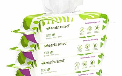 Earth Rated Dog Wipes USDA-Certified 99 Percent Biobased, Hypoallergenic Pet Wipes for Dogs & Cats, Grooming Wipes for Paws, Body and Butt (400-Count, Lavender-Scented)