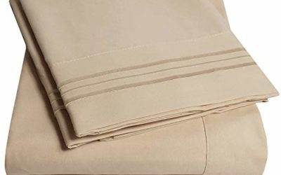 1500 Supreme Collection Bed Sheets Set – Luxury Hotel Style 4 Piece Extra Soft Sheet Set – Deep Pocket Wrinkle Free Hypoallergenic Bedding – Over 40+ Colors – King, Taupe