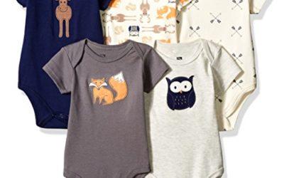 Hudson Baby Unisex Cotton Bodysuits, Forest, 6-9 Months