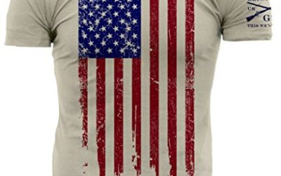 Grunt Style Men's America T-Shirt (X-Large, Full Color – Natural)