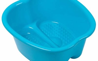 Foot Soaking Bath Basin – Large Size for Soaking Feet   Pedicure and Massager Tub for at Home Spa Treatment   Callus, Fungus, Dead Skin Remover, Blue