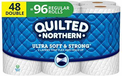 Quilted Northern Ultra Soft and Strong Toilet Paper, Double Rolls, 48 Count of 164 2-Ply Sheets Per Roll, White
