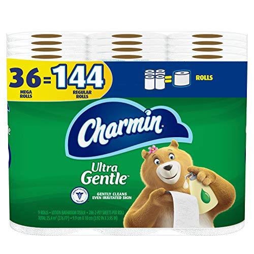 Charmin Ultra Gentle Toilet Paper, 36 Mega Rolls = 144 Regular Rolls