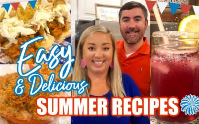 EASY SUMMER RECIPES   JULY 4TH APPETIZERS   COOK #WITHME   JESSICA O'DONOHUE