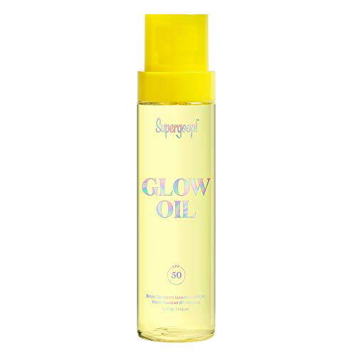 Supergoop! Glow Oil SPF 50, 5 fl oz – Hydrating, Reef-Safe Vitamin E Body Oil with Broad Spectrum Sunscreen Protection – Nourishing Body Oil with Marigold, Meadowfoam & Grape Seed Extracts