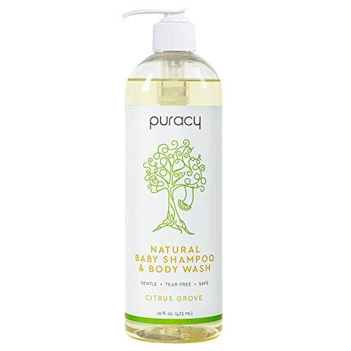 Puracy Natural Baby Shampoo & Body Wash, Tear-Free Soap, Sulfate-Free, 16 Ounce