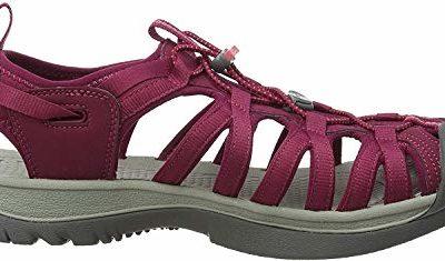 KEEN Womens Whisper Sandal,Beet Red/Honeysuckle,8 M US