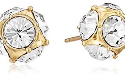kate spade new york Lady Marmalade Gold-Tone Crystal Stud Earrings