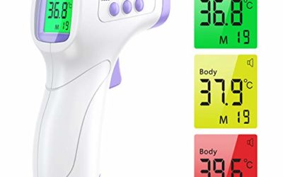 Forehead Thermometer for Adults, WISHDREAM Non Contact Forehead Thermometer for Fever, Infrared Thermometer for Adult Baby Kid Forehead, Ear and Body Temperature, with LCD Display Fever Alarm