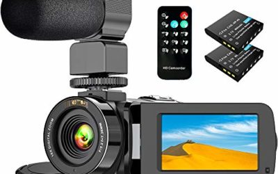 Video Camera Camcorder with WiFi IR Night Vision FHD 1080P 30FPS, Vlogging Camera for YouTube with 26MP 3.0'' Touch Screen 16X Digital Zoom Video Camera with Microphone, 2 Batteries and Remote