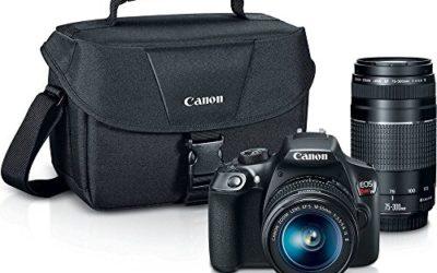 Canon Digital SLR Camera Kit [EOS Rebel T6] with EF-S 18-55mm and EF 75-300mm Zoom Lenses – Black, full-size