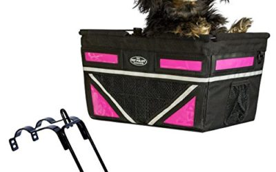 Travelin K9 Pet-Pilot MAX Dog Bicycle Basket Carrier | 8 Color Options for Your Bike (NEON Pink)