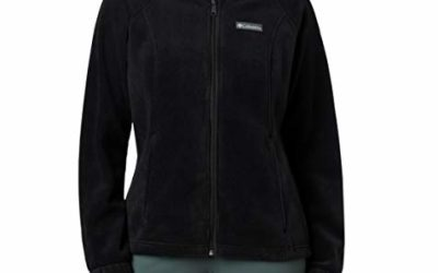 Columbia womens Benton Springs Full Zip Fleece Jacket, Black, X-Large US