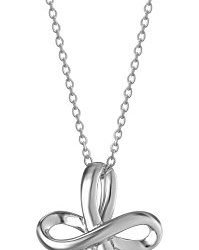"""Sterling Silver Infinity Cross Pendant Necklace 18"""""""