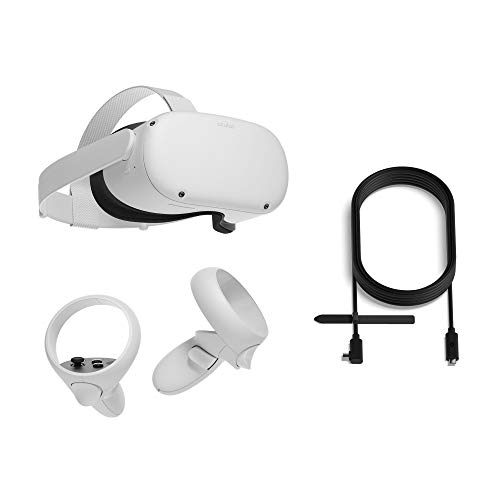 Oculus Quest 2 All-In-One Virtual Reality Headset – 256 GB + Oculus Link Headset Cable