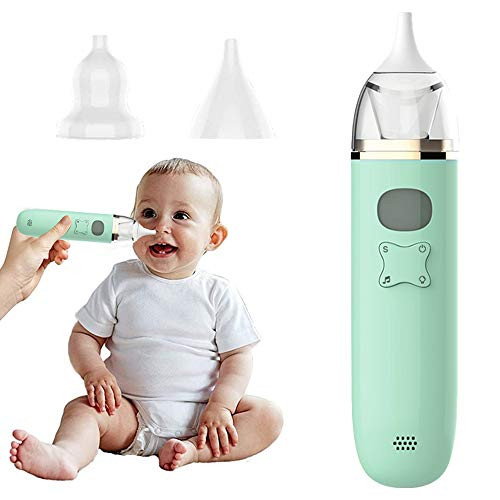 DZZ Baby Nasal Aspirator Automatic Electric Nose Suction Baby with 3 Suction Adjustable 2 Reusable Silicone Tips LED Display Music -for Nosefrida The Snotsucker Mucus Remover Infant Toddlers Kids