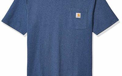 Carhartt Men's K87 Workwear Short Sleeve T-Shirt (Regular and Big & Tall Sizes), Dark Cobalt Blue Heather, X-Large