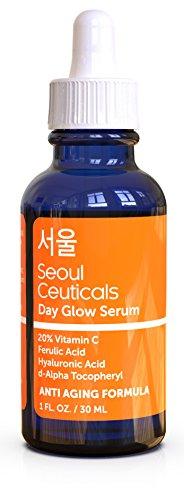 Korean Skin Care K Beauty – 20% Vitamin C Hyaluronic Acid Serum + CE Ferulic Acid Provides Potent Anti Aging, Anti Wrinkle Korean Beauty 1oz