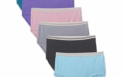 Fruit of the Loom Women's Tag Free Cotton Panties (Regular & Plus Size), Brief – 6 Pack – Assorted Heathers, 8