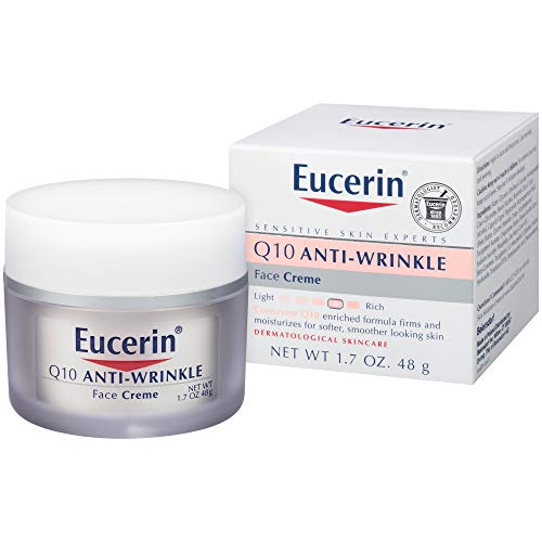 Eucerin Q10 Anti-Wrinkle Face Cream – Fragrance Free, Moisturizes for Softer Smoother Skin – 1.7 Ounce (Pack of 1)