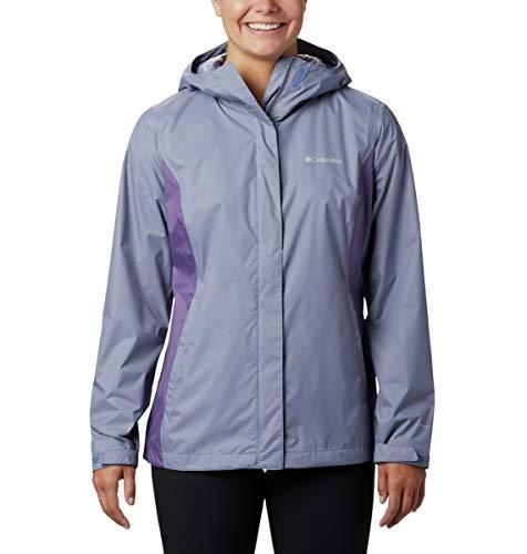Columbia Women's Arcadia II Hooded Jacket, Waterproof and Breathable Outerwear, -New Moon/plum purple, Medium