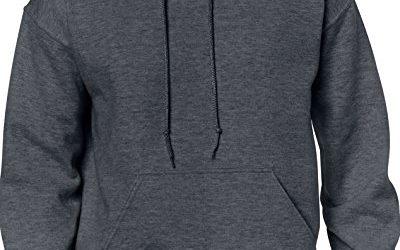 Gildan Men's Heavy Blend Fleece Hooded Sweatshirt G18500, Dark Heather, 2X-Large