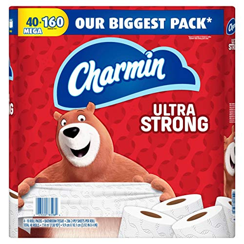 Product of Charmin Ultra Strong Mega Rolls 286-Sheet 2-Ply Bathroom Tissue, 40 p
