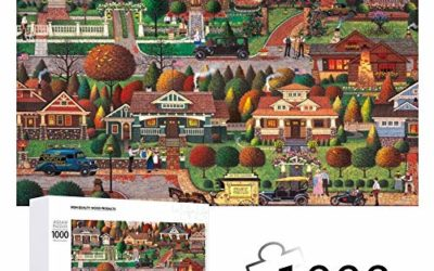 Labor Day in Bungalowville Jigsaw Puzzles 1000 Pieces for Adults Brain Challenge Game Puzzle for Kids Boys Gils Gift