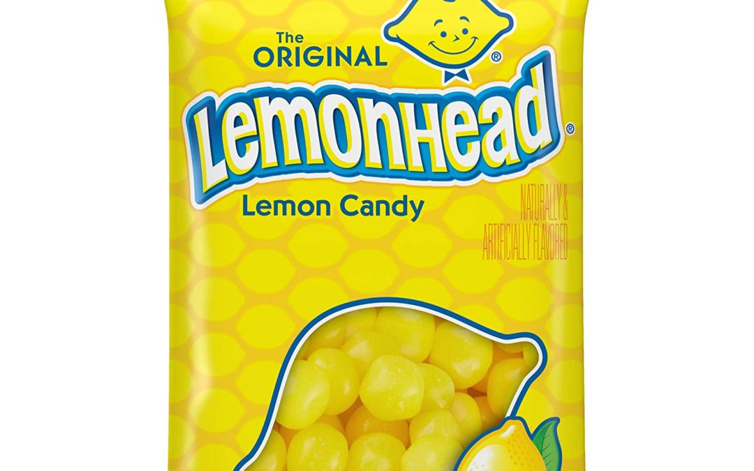 Lemonhead Hard Candy, Lemon, 8 Ounce Bag, Pack of 12