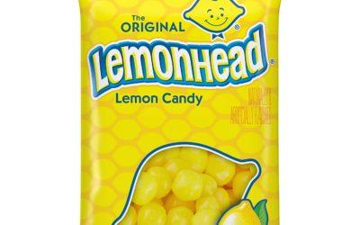 Lemonhead Hard Candy, Lemon, 8 Ounce Bag, Pack of 12