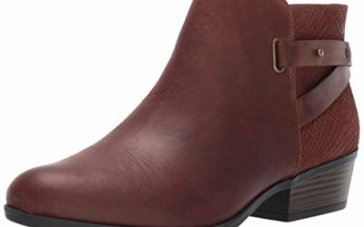 Clarks Women's Addiy Gladys Fashion Boot, Dark Tan Leather, 100 M US
