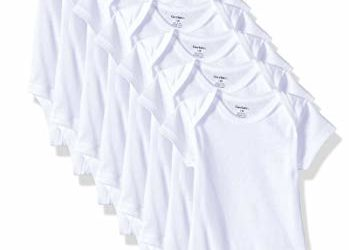 Unknown baby girls 8-pack Short Sleeve Onesies Bodysuits and Toddler T Shirt Set, Solid White, 3-6 Months US