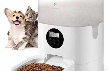PETLIBRO Automatic Cat Feeder, 4L Transnsparent Auto Pet Dry Food Dispenser with Desiccant Bag, Portion Control 1-4 Meals per Day & 10s Voice Recorder for Small & Medium Pets