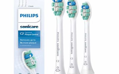 Philips Sonicare HX9023/65 Genuine C2 Optimal Plaque Control Toothbrush Head, 3 Pack, White