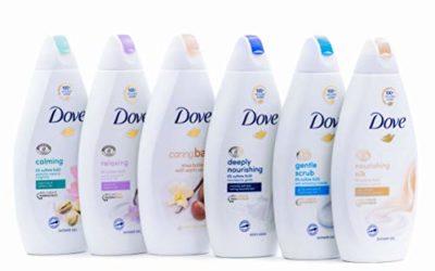 Dove Body Wash Variety 6 Pack – Shea Butter, Deep Moisture, Pistachio Cream, Coconut Milk, Gentle Exfoliating and Silk Glow, 16.9oz Each International Version